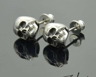 Earrings Skulls Silver