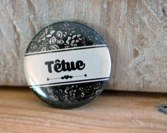 Badge pin 25mm * stubborn *.