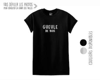 Gueule de bois.Unisex Crewneck Tshirt.Petite Gazelle Atelier