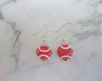 Princess mononoke inspired Studio Ghibli earrings.