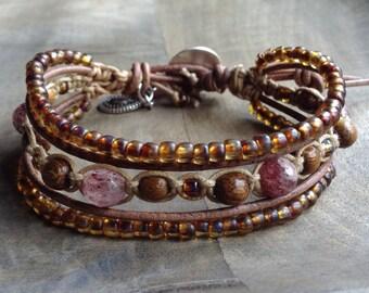 Bohemian bracelet macrame bracelet boho chic jewelry rustic jewelry gemstone womens jewelry boho chic bracelet rustic bracelet boho bracelet