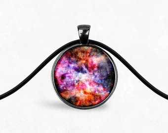 Galaxy Nebula Necklace | Boho Necklace Galaxy Pendant Necklace Galaxy Jewelry Space Necklace Cosmic Star Necklace Boho Jewelry Long Necklace
