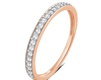 1/5 Cttw Diamond Wedding Band in 14K Rose Gold