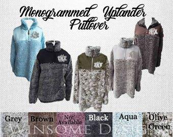 Sherpa Pullover-Uplander Pullover--Preppy Monogram Half Zip-Monogram Pullover-Monogram Tunic-Monogram Fleece-Monogram Half Zip-Monogrammed
