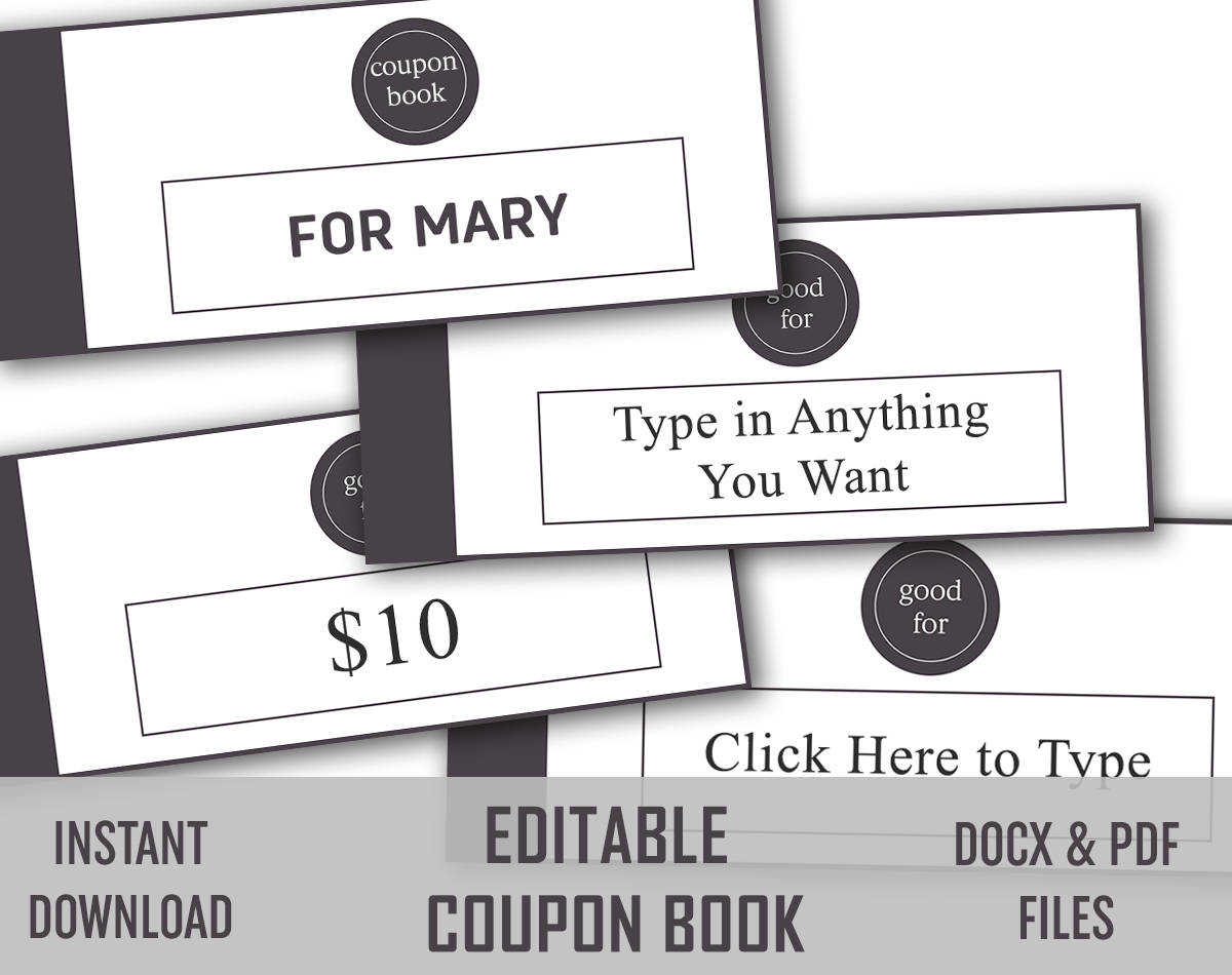 Personal coupon booklet