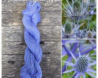 Sea Holly hand-dyed cotton yarn