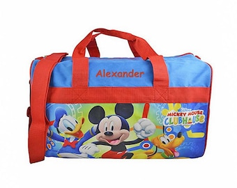 Personalized Mickey Mouse Clubhouse Kids Travel Duffel Bag - 18""