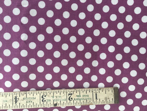 Riley Blake Basics Small Dot C320-125 Purple Remnant  1/2 yard- 3/4 yard