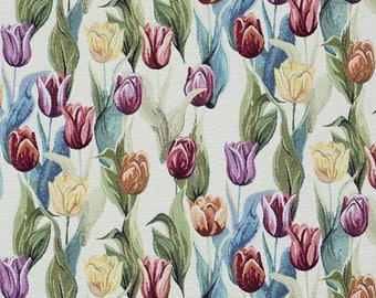 tapestry fabric - tulip fabric - jacquard woven fabric - quilting fabric - upholstery fabric - floral fabric - TF-9009