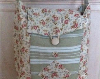 Flap canvas bag has mattress and liberty linen