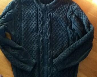 jacket stitch Irish color mottled dark blue jacket