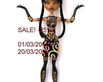 SALE - 25%! Monster High repaint, Monste High OOAK,,Monster High custom by Lalarossa, Ibrida Thais