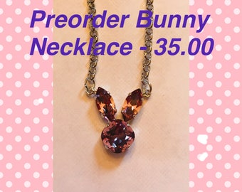 Preorder Bunny Necklace - Free Shipping