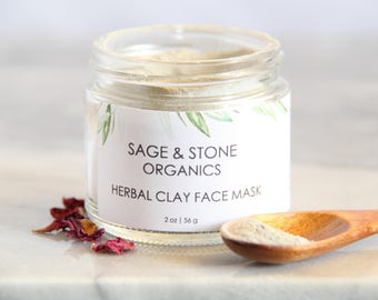 Herbal Clay Face Mask | Face Mask for Oily Skin | Face Mask for Acne | Blemish Face Mask | Herbal Face Mask | Clay Face Mask