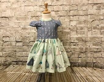 Blue Arrow Dress