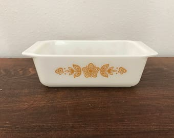 Butterfly Gold Pyrex Loaf Pan