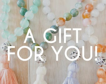 Gift Card for MeraKalpa Mala Kits or Seed Of Intention - mala beads - gifts for yogis - gift cards