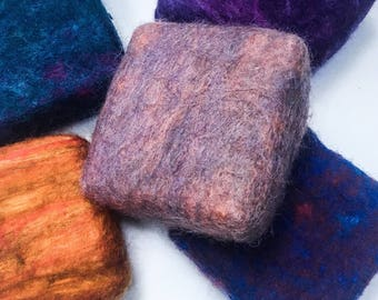 felted soap, soap saver bars, wool roving, soap bars, all natural soap, cold process soap, wet felted soap, artisan soap