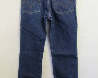 Men's Vintage,Dark Blue BOOTCUT Jeans By LEVI'S 517.29x30