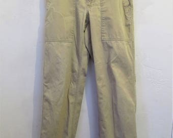 Women's Vintage 90's,Khaki Colored ARMY SURPLUS Style Pants By A&F.4