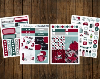 Warm & Cozy Mini Sticker Kit - Mini Happy Planner - Personal Planner - Travelers Notebook