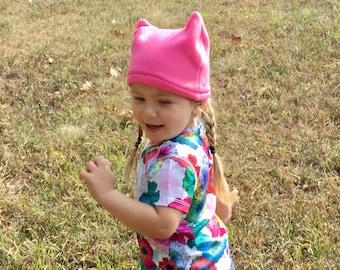 Child pussyhat toddler Cat Hat Kid Pussyhat Pink Kid Hat Feminist Hat Toddler Winter Hat Cat Accessories Pink Hat Kid Hat Winter Hat Kid