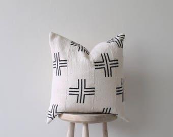 "African Mudcloth pillow 'Akili' 19"""