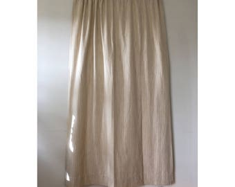 vintage linen curtains cream natural fiber curtain panels striped linen drapes rod pocket