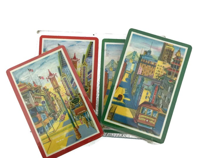 Vintage Double Deck Playing Cards Souvenir of California