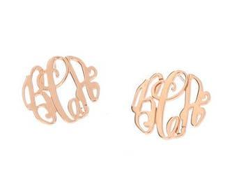 Rose Gold Filigree Stud Earrings - Elizabeth Collection
