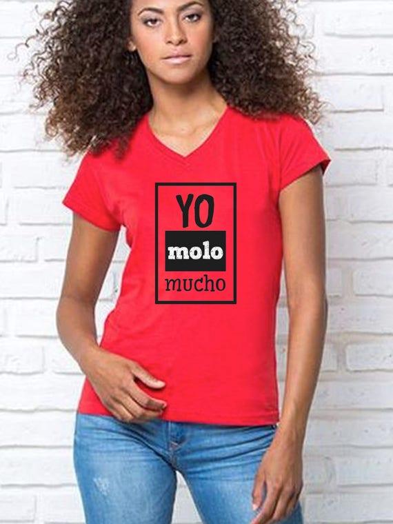 Round neck women t-shirt YO MOLO MUCHO