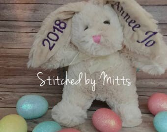 TAN Personalized Easter Bunny, Easter Bunny, Personalized Gift, Easter, Easter Gift, personalized Easter gift, Easter rabbit, Personalized