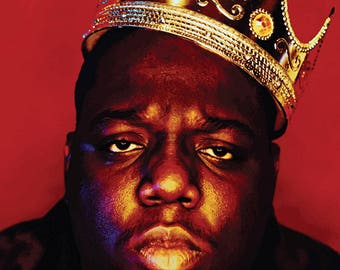 Notorious BIG Poster Large A1 Biggie Smalls BAD BOY Poster Arty Effect