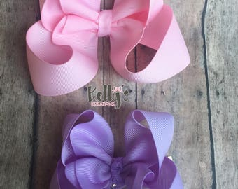 Basic hairbows- simple bows- simple girl hairbows-girls hairbows.