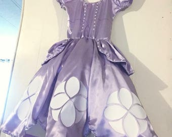 Sofia the first dress party costume children or adults