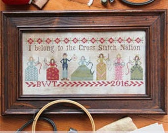 SALE!! Cross Stitch Nation by Heartstring Samplery - cross stitch pattern