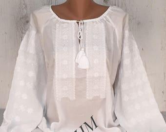 Embroidered Blouse Vyshyvanka, Woman's Blouse, Folk Style