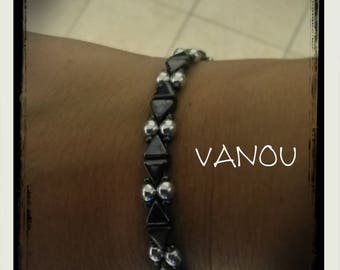 Bracelet with KHEOPS® black and silver