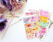 Aloha -- Vertical Weekly Kit-- Matte Planner Stickers