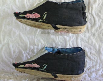Antique ChineseQing Dynasty Lotus shoes for bound feet