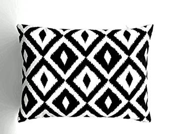Lumbar pillow cover, indoor outdoor decorative pillow cover,throw pillow cover,toss pillow cover,fall pillow cover,black,white,pillow sets