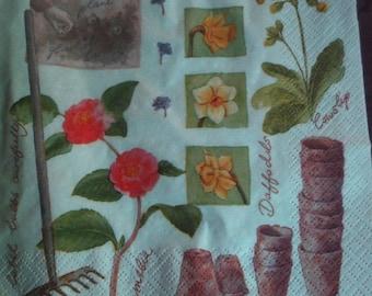 4 napkins paper napkins utensil garden gardening