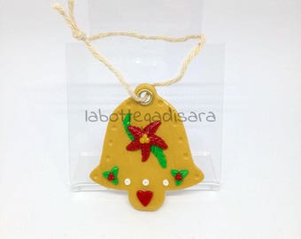 2 Bell-shaped tree decorations