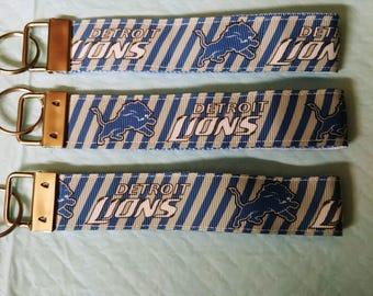 Detriot lions key chain