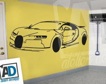 Wall sticker R-026 bugatti chiron