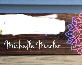 Consultant Sign- Painted Wooden Clothing Boutique Sign