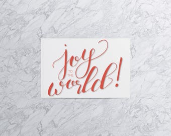 Joy to the World  | Christmas Card and Envelope (Set of 4)