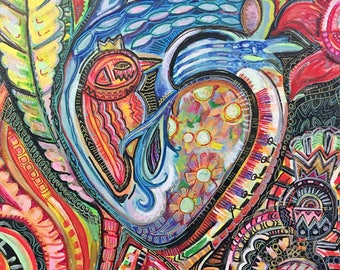 king bird in heart 16*20