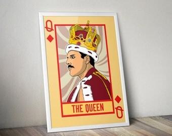Freddie Mercury 'The Queen' Poster