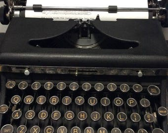 Royal Deluxe Portable Model A Quiet Deluxe Typewriter - 1935 Serviced in Excellent Condition